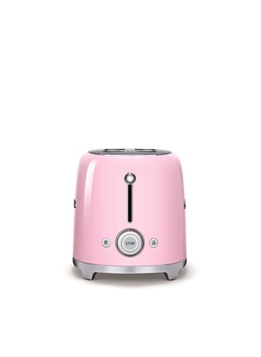 Smeg Tsf02Pkeu 1500 W 6 Programlı 4 Dilim Hazneli Pembe Ekmek Kızartma Makinesi Pembe